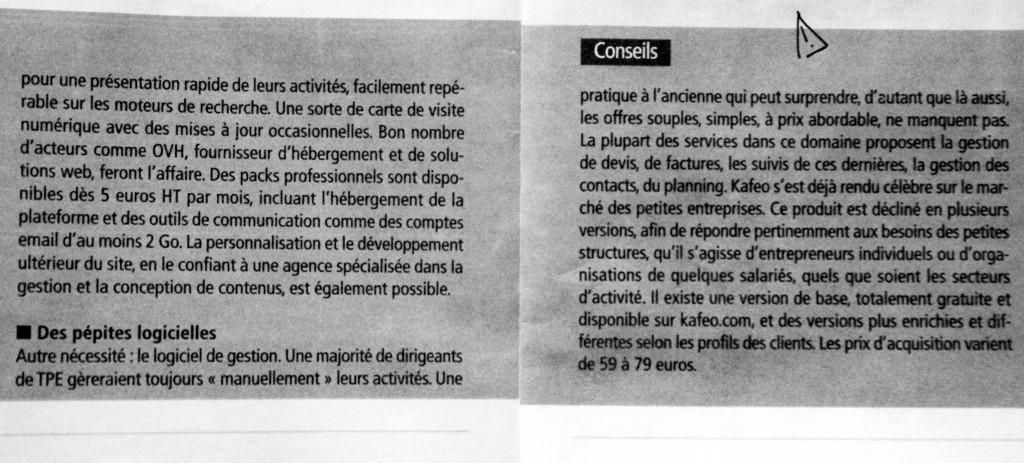 Article sur kafeo paru dans l'EcoReseau aout/septembre 2013